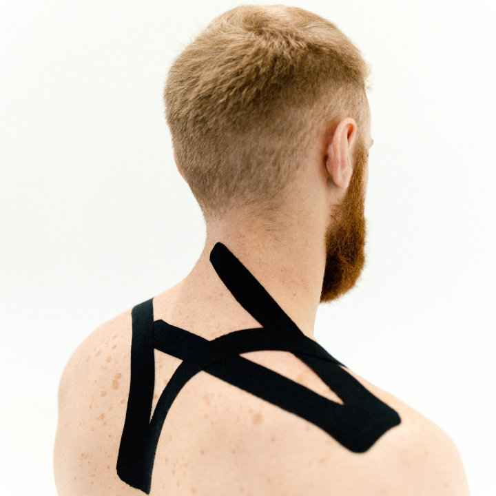 Kinesiology Taping,upper back, shoulder and neck
